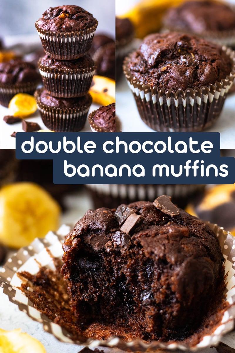Double chocolate banana muffins Pinterest