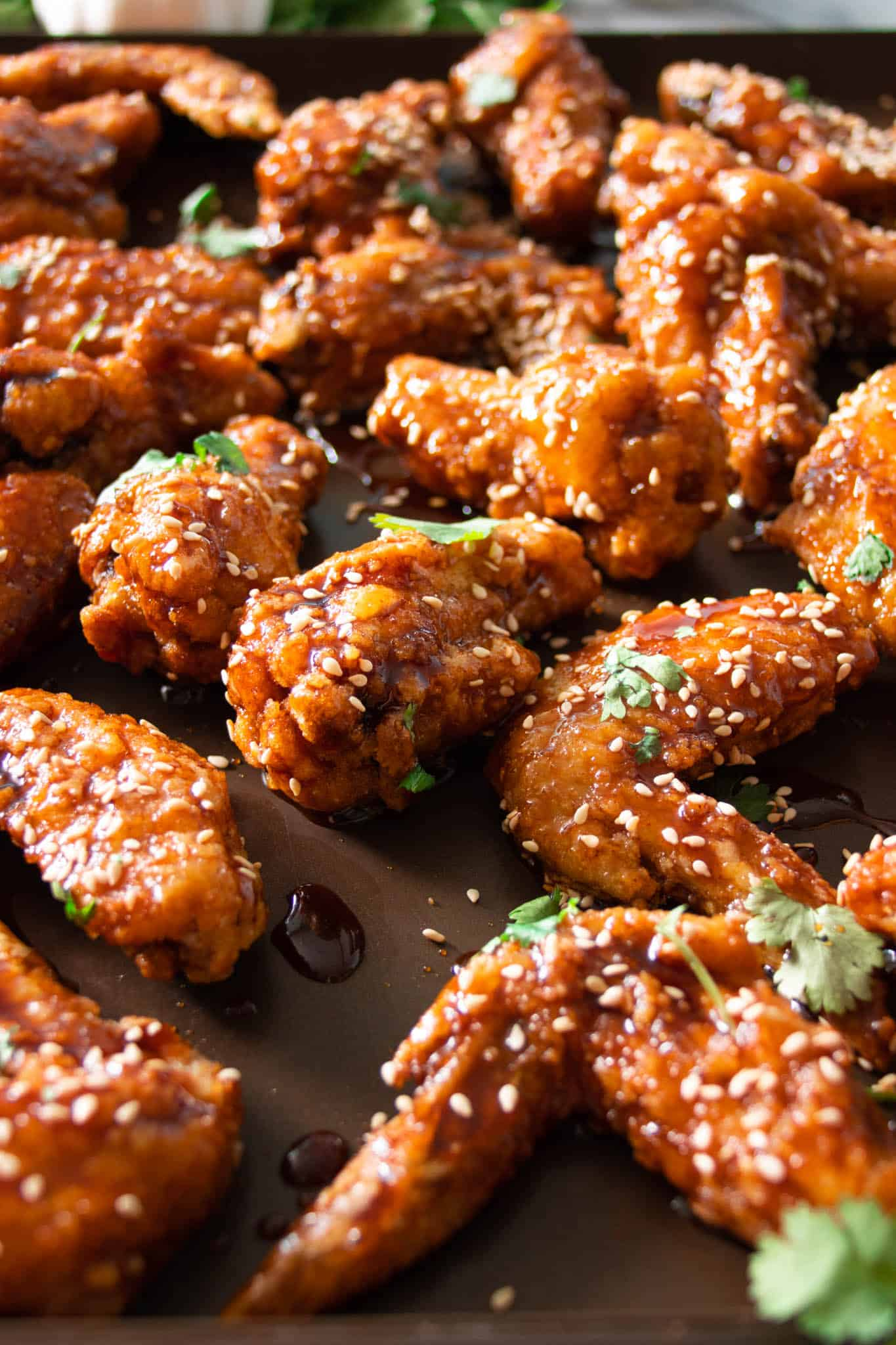 Korean-style soy and honey garlic fried chicken