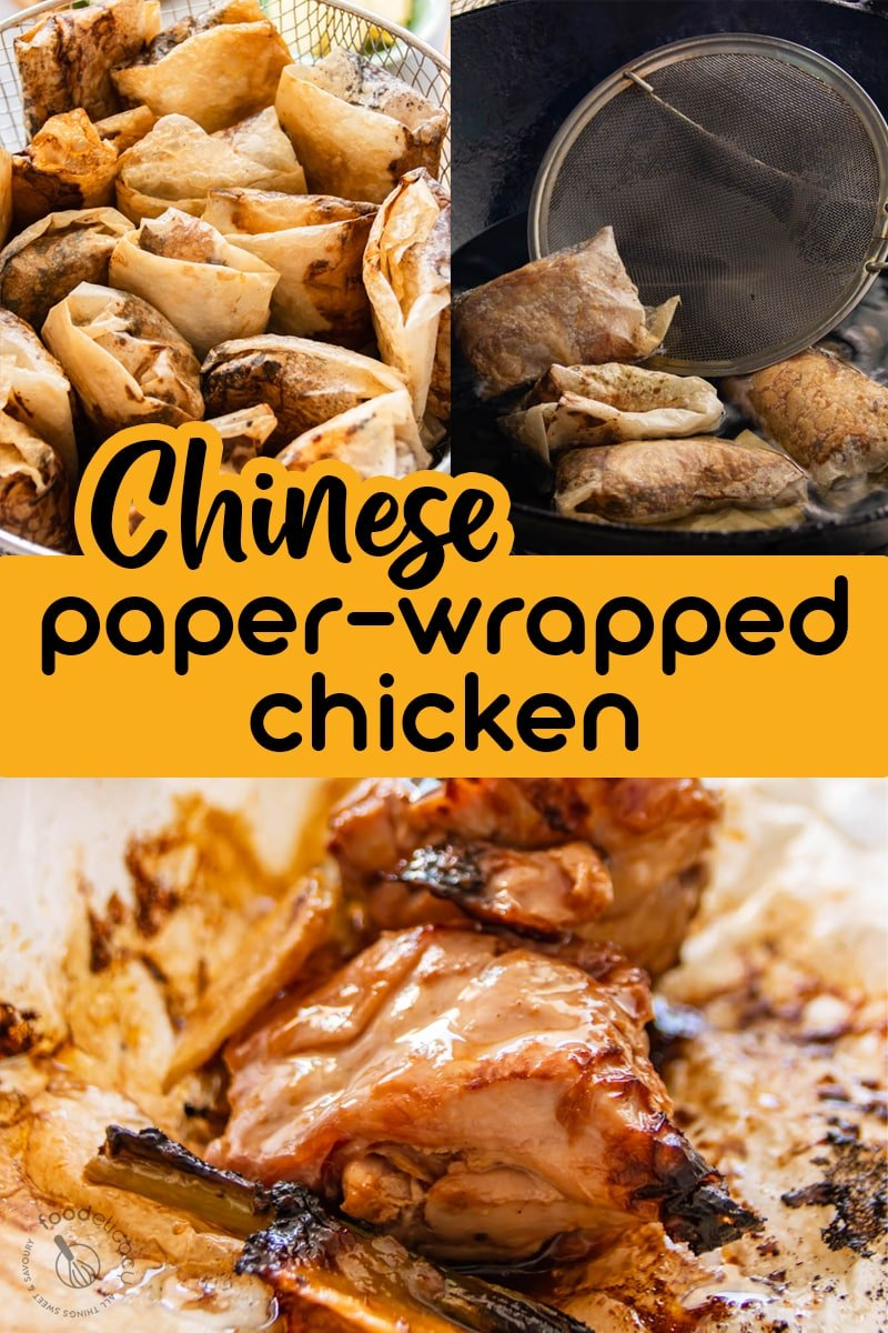 Paper-wrapped chicken is all about the flavour and texture! Tear open these fried wrappers, and you'll be greeted by an intense fragrance! The meat is tender, juicy and succulent, and juices beautifully caramelised by flavourful Asian seasonings. Customarily, these packets are torn open over steamed rice to let the delicious juices and oils flow ov via @foodelicacy